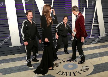 Ben Falcone, Melissa McCarthy, Olivia Grant and Richard E. Grant