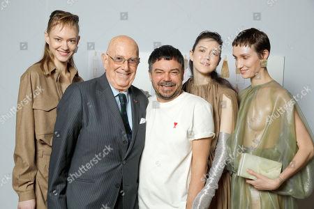 Alberto Zambelli and Models backstage