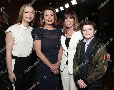Madeleine Prowda, Nancy Pelosi, Amy Doyle and Thomas Vos