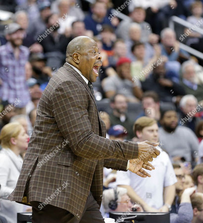 Georgetown Hoyas Head Coach Patrick Ewing during a NCAA Men's Basketball game between the Georgetown Hoyas and the Villanova Wildcats at the Capital One Arena in Washington D.C