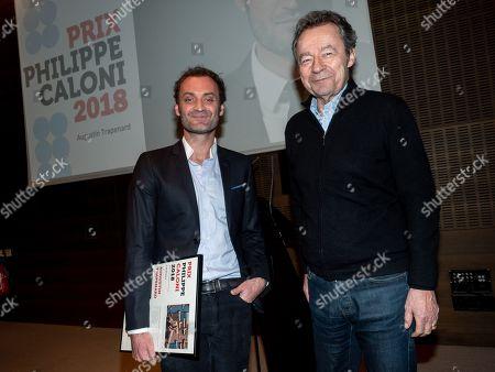 Augustin Trapenard and Michel Denisot