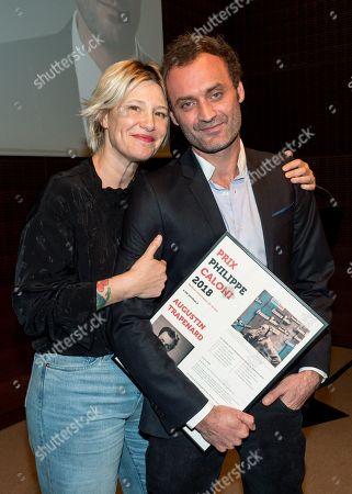Stock Photo of Maitena Biraben and Augustin Trapenard