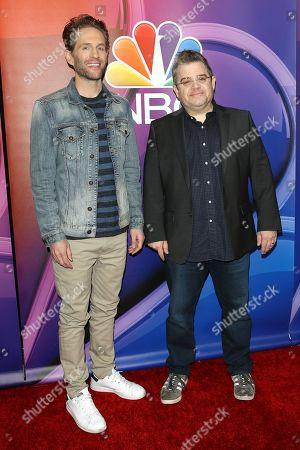 Glenn Howerton and Patton Oswalt arrive for the NBC Universal Mid Season Press Day at Universal City, California, USA 20 February 2019.