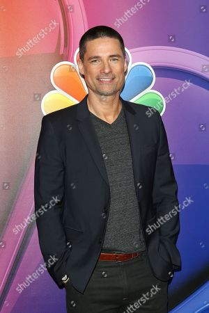 Stock Image of Warren Christie arrives for the NBC Universal Mid Season Press Day at Universal City, California, USA 20 February 2019.