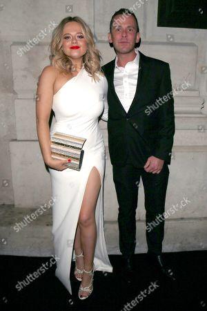 Emily Atack and Scott Mills