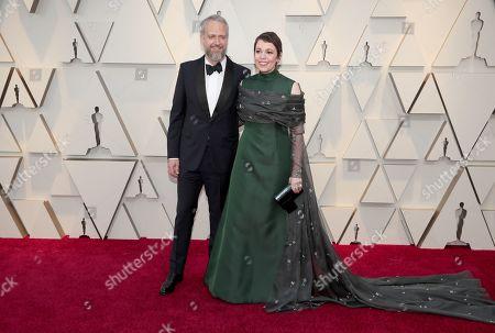 Olivia Colman and Ed Sinclair