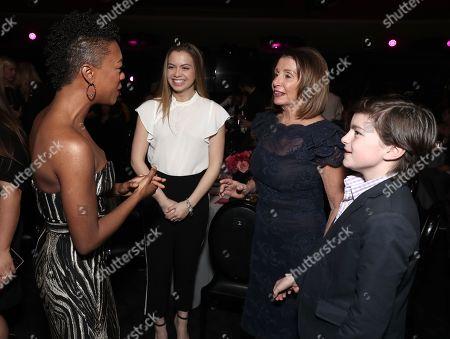 Stock Image of Samira Wiley, Madeleine Prowda, Nancy Pelosi and Thomas Vos