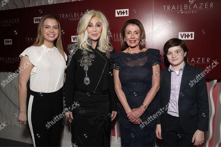 Madeleine Prowda, Cher, Nancy Pelosi and Thomas Vos