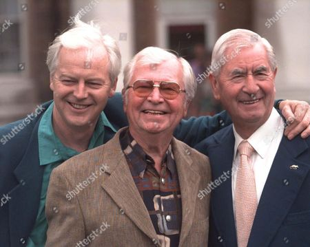 Celebrations For 30 Years Of Television Programme Dad's Army At The Imperial War Museum London Se11. Picture Shows Actors (l-r) Ian Lavender Who Played Private Pike Clive Dunn Who Played Lance Corporal Jones And Bill Pertwee Who Played Arp Warden Bill Hodges. . Rexmailpix.
