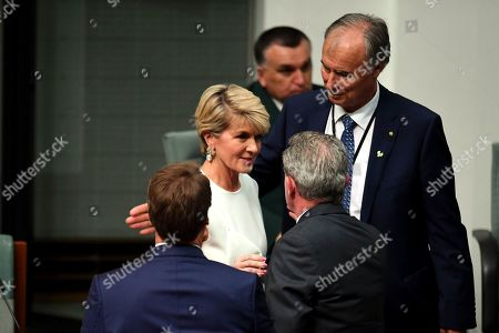 Member for Curtin Julie Bishop departs the chamber after she will not be contesting the seat of Curtin in the upcoming 2019 Federal Election in the House of Representative at Parliament House in Canberra, Australia, 21 February 2019. According to media reports, Bishop announced her resignation from Parliament.