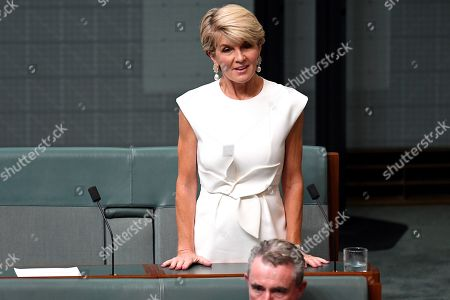 Member for Curtin Julie Bishop announces she will not be contesting the seat of Curtin in the upcoming 2019 Federal Election in the House of Representatives at Parliament House in Canberra, Australia, 21 February 2019. According to media reports, Bishop announced her resignation from Parliament.