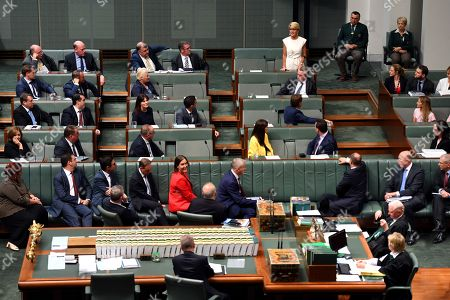 Member for Curtin Julie Bishop announces to the chamber that she will not be contesting the seat of Curtin in the upcoming 2019 Federal Election in the House of Representatives at Parliament House in Canberra, Australia, 21 February 2019. According to media reports, Bishop announced her resignation from Parliament.