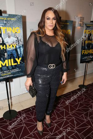 """Stock Image of Nia Jax seen at the Metro Goldwyn Mayer Pictures' """"Fighting with My Family"""" Los Angeles Tastemaker Screening at The London Hotel, in West Hollywood, Calif"""
