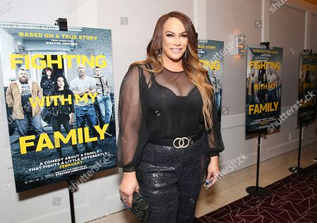 """Nia Jax seen at the Metro Goldwyn Mayer Pictures' """"Fighting with My Family"""" Los Angeles Tastemaker Screening at The London Hotel, in West Hollywood, Calif"""