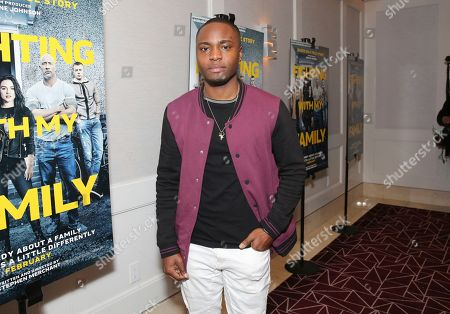 """Stock Image of Corey Champagne seen at the Metro Goldwyn Mayer Pictures' """"Fighting with My Family"""" Los Angeles Tastemaker Screening at The London Hotel, in West Hollywood, Calif"""