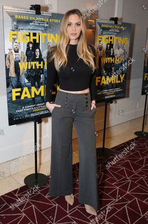 "Aqueela Zoll seen at the Metro Goldwyn Mayer Pictures' ""Fighting with My Family"" Los Angeles Tastemaker Screening at The London Hotel, in West Hollywood, Calif"