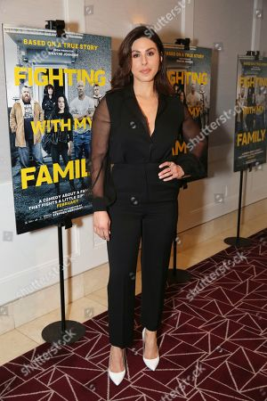 """Cristina Rosato seen at the Metro Goldwyn Mayer Pictures' """"Fighting with My Family"""" Los Angeles Tastemaker Screening at The London Hotel, in West Hollywood, Calif"""