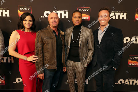 Katrina Law, Joe Halpin, Creator/Writer/Executive Producer, Cory Hardrict, Eric Berger, Chief Digital Officer of Sony Pictures Television and GM of Crackle,