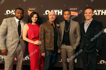 50 Cent, Executive Producer, Katrina Law, Joe Halpin, Creator/Writer/Executive Producer, Cory Hardrict, Eric Berger, Chief Digital Officer of Sony Pictures Television and GM of Crackle,