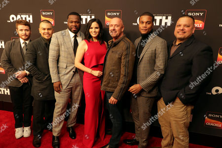 Stock Photo of Kevin Connolly, Director/Actor, Joseph Julian Soria, 50 Cent, Executive Producer, Katrina Law, Joe Halpin, Creator/Writer/Executive Producer, Cory Hardrict, J. Anthony Pena