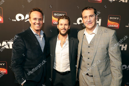 Eric Berger, General Manager, Crackle, and Chief Digital Officer, Sony Pictures Television Networks, Ryan Kwanten, Producer/Actor, John Orlando, SVP of Programming and Development, Crackle,