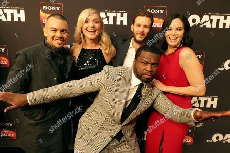 Joseph Julian Soria, Elisabeth Rohm, 50 Cent, Executive Producer, Ryan Kwanten, Producer/Actor, Katrina Law