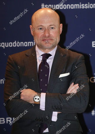 Stock Image of Breitling CEO Georges Kern poses for a photo during the Swiss watchmaker's showcase at a hotel in Seoul, South Korea, 21 February 2019.