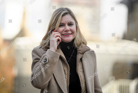 Justine Greening MP seen in Westminster, London. Conservative and Labour MPs have resigned form their respective parties. and joined newly formed The Independent Group, a breakaway campaign group formed by seven defecting Labour MPs.