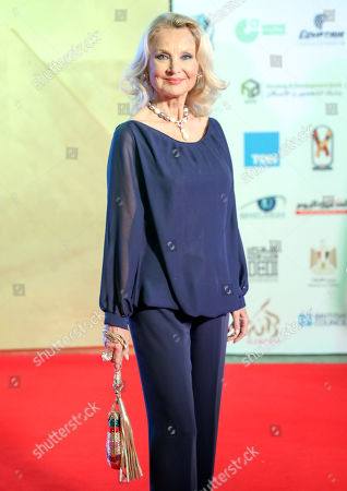 Stock Picture of Barbara Bouchet arrives for the opening ceremony of the third edition of the Aswan International Women Film Festival (AIWFF), Aswan, Egypt, 20 February 2019 (issued 21 February 2019). The festival is running between 20 and 26 February.