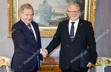Editorial picture of Finnish President meets Swedish Defence Minister Helsinki, Finland - 08 Feb 2019