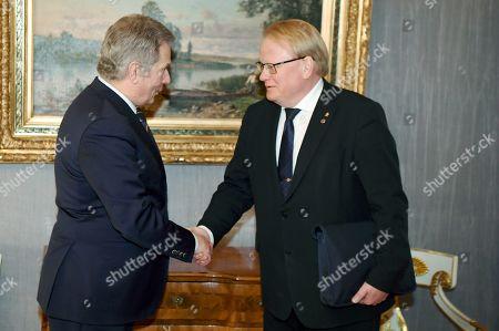 Editorial photo of Finnish President meets Swedish Defence Minister Helsinki, Finland - 08 Feb 2019