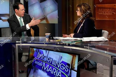 "Randall Stephenson, Maria Bartiromo. AT&T Chairman & CEO Randall Stephenson is interviewed by Maria Bartiromo during her ""Mornings with Maria Bartiromo"" program on the Fox Business Network, in New York"