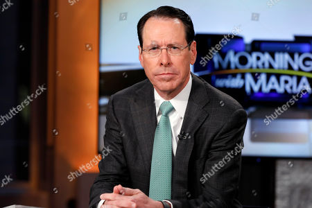 """AT&T Chairman & CEO Randall Stephenson is interviewed by Maria Bartiromo during her """"Mornings with Maria Bartiromo"""" program on the Fox Business Network, in New York"""