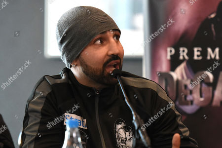 Stock Image of Paul Malignaggi during a Press Conference at Intercontinental at The O2 on 21st February 2019