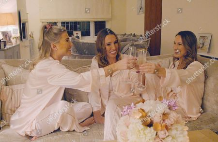 Billie Faiers and Sam Faiers with their mum Sue Wells