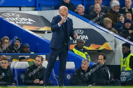 Malmö FF Manager Uwe Rosler during the Europa League round of 32 leg 2 of 2 match between Chelsea and Malmo FF at Stamford Bridge, London