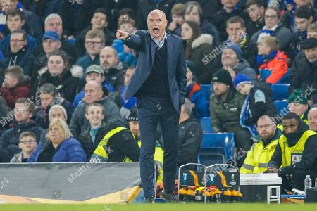 Malmo manager Uwe Rosler pointing, directing, signalling during the Europa League match between Chelsea and Malmo FF at Stamford Bridge, London