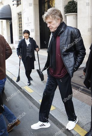 Robert Redford out and about, Paris