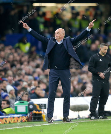 Stock Image of Malmo FF manager Uwe Rosler seems to point in two directions