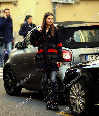 Editorial image of Bianca Balti out and about, Milan, Italy - 21 Feb 2019