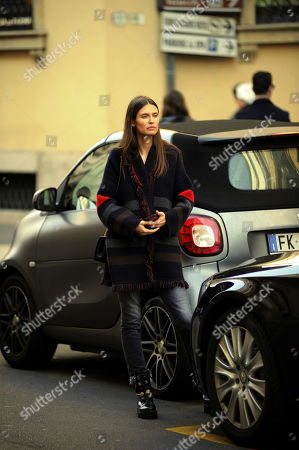Editorial picture of Bianca Balti out and about, Milan, Italy - 21 Feb 2019