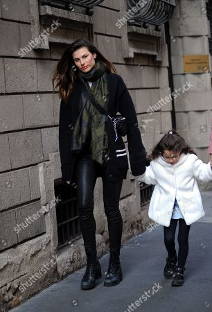 Editorial picture of Dayane Mello out and about, Milan, Italy - 21 Feb 2019