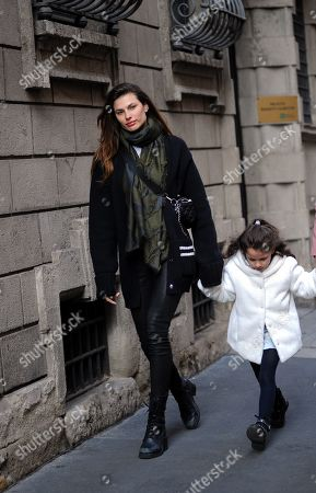 Stock Picture of Dayane Mello and daughter Sofia