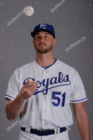 This is a 2019 photo of Chris Ellis of the Kansas City Royals baseball team. This image reflects the Kansas City Royals active roster as of, when this image was taken