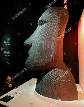 A visitor looks at a sculpture that are part of 'The Art Of The Brick' traveling exhibition of art made out of Lego's appearing at the Perot Museum of Nature and Science in Dallas, Texas, USA, 21 February 2019. The artist Nathan Sawaya was a former New York City corporate lawyer.