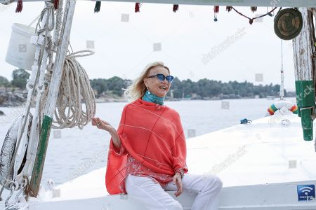 Barbara Bouchet tour on a boat in the river nile during the third edition of Aswan International Women Film Festival (AIWFF), in Aswan, Egypt, 21 February 2019. The festival is running between 20 and 26 February.