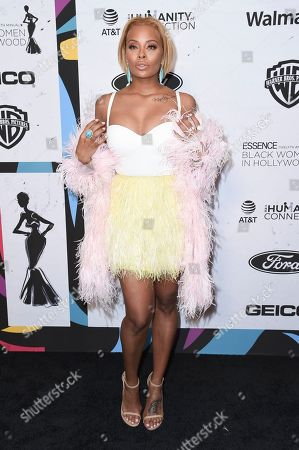 Eva Marcille attends the 12th Annual ESSENCE Black Women in Hollywood Awards at the Beverly Wilshire Hotel, in Beverly Hills, Calif