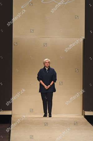 Stock Picture of Silvia Venturini Fendi on the catwalk