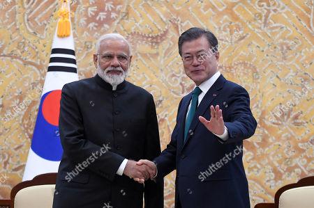 Prime Minister of India Narendra Modi visits South Korea