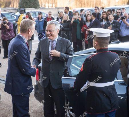 Belgium's Minister of Defense Didier Reynders visit to Washington DC